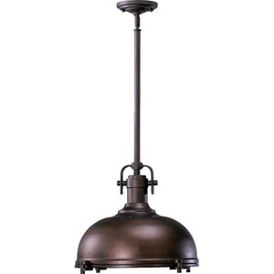 Boardwalk Oiled Bronze With Antique Gold 17-Inch One-Light Pendant