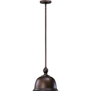 Boardwalk Oiled Bronze With Antique Gold 12-Inch One-Light Pendant