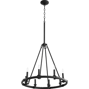 Brewhouse Black Eight-Light Chandelier