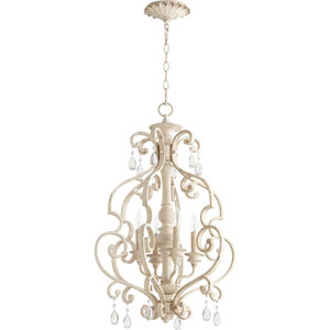 Buckingham White 19-Inch Four-Light Chandelier