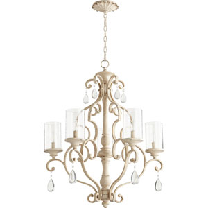 Buckingham White Five-Light Chandelier