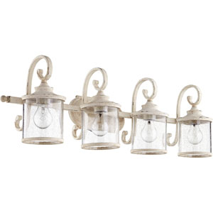 Buckingham White Four-Light Bath Vanity
