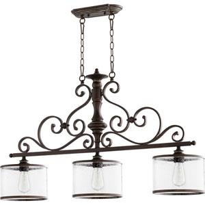 Buckingham Copper Three-Light Pendant