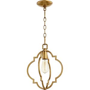Carnegie Gold Leaf One-Light Pendant