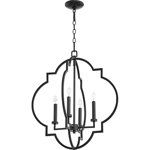 Carnegie Black 22-Inch Four-Light Pendant