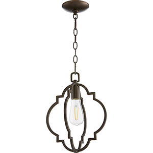 Carnegie Oiled Bronze One-Light Pendant