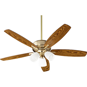 Cedars Aged Brass Three-Light Ceiling Fan