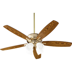Cedars Aged Brass Four-Light Ceiling Fan