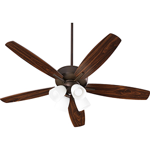 Cedars Oiled Bronze Four-Light LED Ceiling Fan