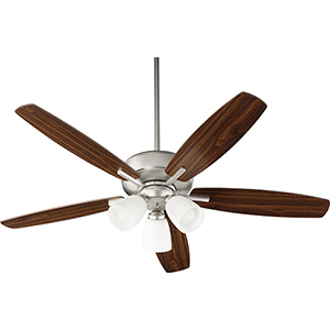 Cedars Satin Nickel Three-Light Ceiling Fan