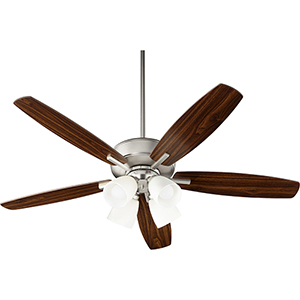 Cedars Satin Nickel Four-Light Ceiling Fan
