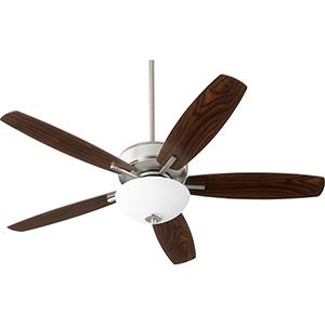 Cedars Satin Nickel Two-Light Ceiling Fan