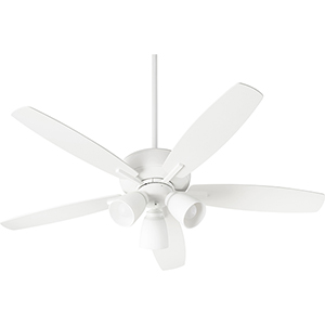 Cedars White Three-Light Ceiling Fan