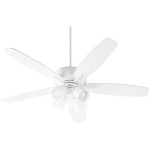Cedars White Four-Light Ceiling Fan