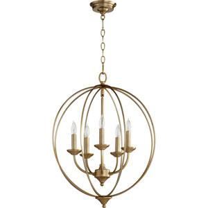Creekside Aged Brass Five-Light Pendant