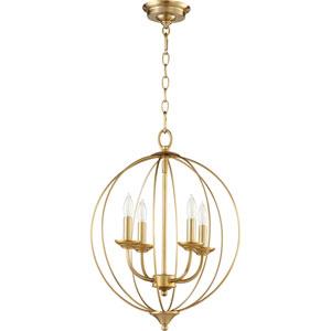 Creekside Aged Brass 15-Inch Four-Light Pendant