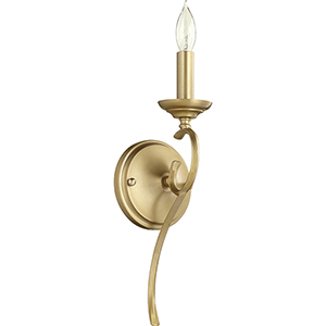 Creekside Aged Brass Five-Inch One-Light Wall Sconce