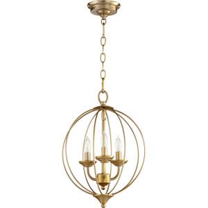 Creekside Aged Brass Three-Light Pendant