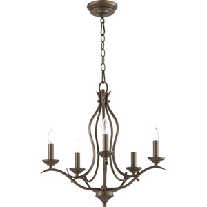 Creekside Oiled Bronze 20-Inch Five-Light Chandelier
