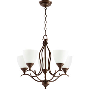 Creekside Oiled Bronze 22-Inch Five-Light Chandelier