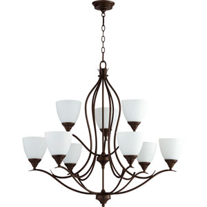 Creekside Oiled Bronze 29-Inch Nine-Light Chandelier