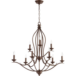 Creekside Oiled Bronze 32-Inch Nine-Light Chandelier