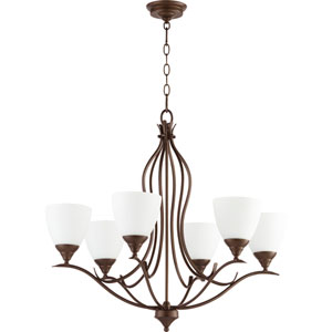 Creekside Oiled Bronze 29-Inch Six-Light Chandelier