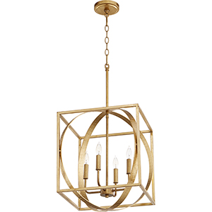 Drake Gold Leaf Four-Light Pendant