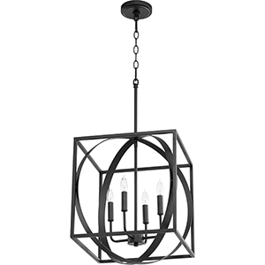 Drake Black 16-Inch Four-Light Pendant
