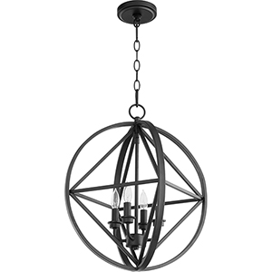 Drake Black 18-Inch Four-Light Pendant