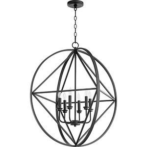 Drake Black 28-Inch Six-Light Pendant