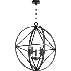 Drake Black Five-Light Pendant
