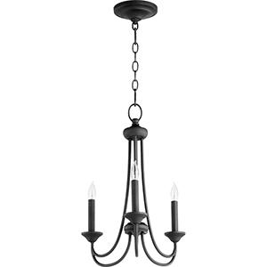 Eastminster Black Three-Light Chandelier