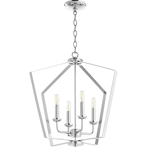 Greenfield Chrome Four-Light Pendant