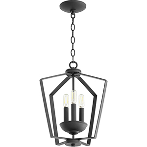 Greenfield Black Three-Light Pendant