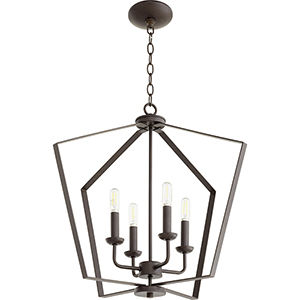 Greenfield Oiled Bronze Four-Light Pendant
