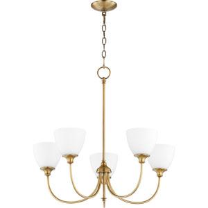 Kingsbury Aged Brass Five-Light Chandelier