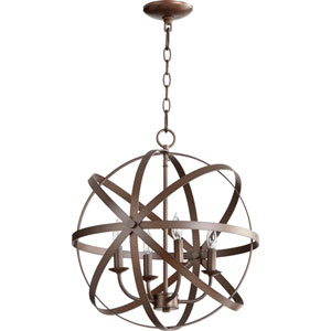 Kingsbury Oiled Bronze Four-Light Pendant