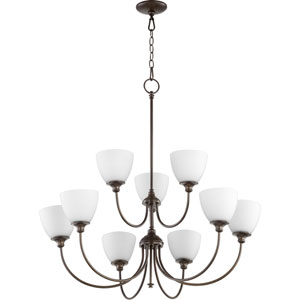 Kingsbury Oiled Bronze Nine-Light Chandelier