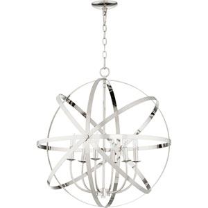 Kingsbury Polished Nickel Six-Light Pendant