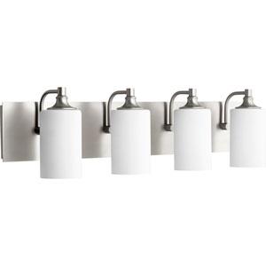 Kingsbury Satin Nickel Four-Light Bath Vanity
