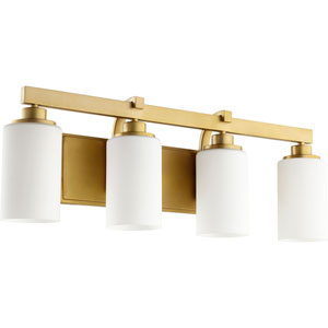 Manchester Aged Brass Four-Light Bath Vanity