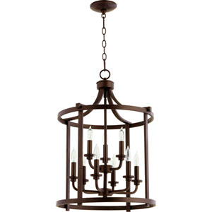 Manchester Oiled Bronze Nine-Light Pendant