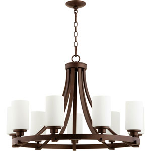 Manchester Oiled Bronze 34-Inch Nine-Light Chandelier