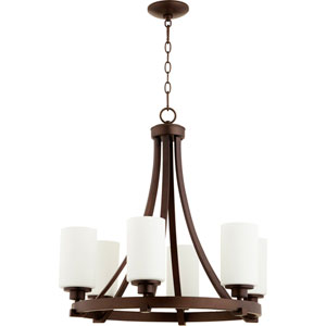 Manchester Oiled Bronze Six-Light Chandelier