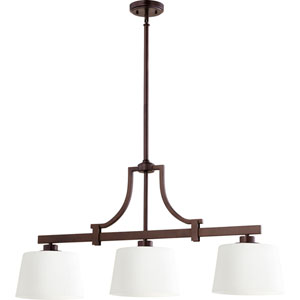 Manchester Oiled Bronze 10-Inch Three-Light Pendant