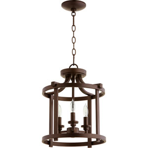 Manchester Oiled Bronze 13-Inch Three-Light Pendant