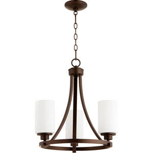 Manchester Oiled Bronze Three-Light Chandelier