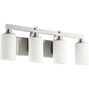 Manchester Satin Nickel Four-Light Bath Vanity