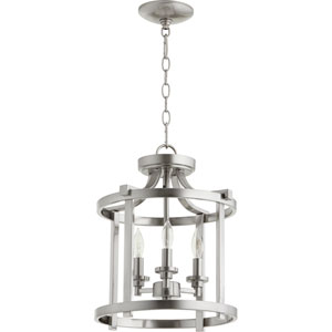 Manchester Satin Nickel 13-Inch Three-Light Pendant